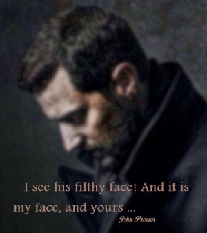 Richard Armitage - John Proctor quote from The Crucible