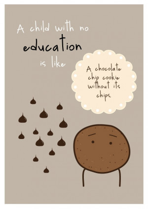 Child With No Education Art Print Inspirational Quote A4 Children's ...