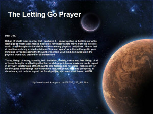 Let go, Let God Prayer