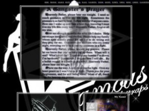 famous stars and straps gangsters prayer myspace layout 8828