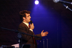 Alister and comedian Marcus Brigstocke - seperated at birth?