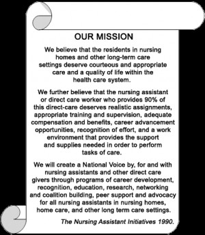 ... support development for nursing assistants in nursing homes and other