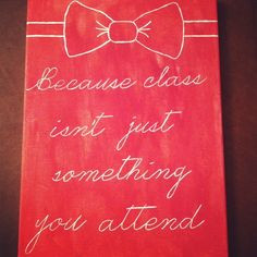 sorority craft because class isn't just something you attend #bows ...