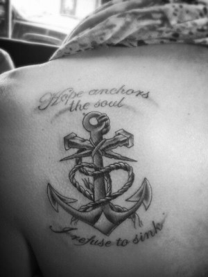 Cute Anchor Tattoos With Quotes Cute anchor tattoo