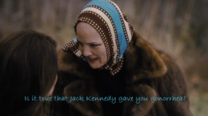 This line, spoken by Little Edie (Drew Barrymore) to her cousin Jackie ...