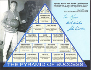 John Wooden Pyramid of Success--great words to live your life by...