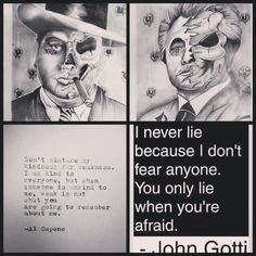 ... al capone current future tattoo dead mafia tattoo john gotti quotes