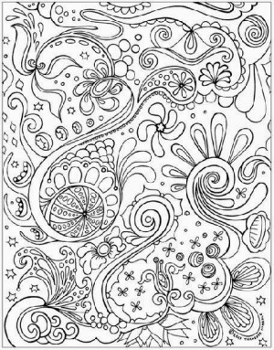 Free Printable Abstract Coloring Pages For Adults | Openwheel Kids