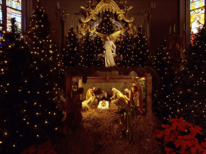 Beautiful scene of Christmas night with the birth of baby Jesus, 2012 ...