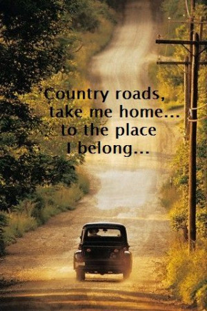 Country Roads...