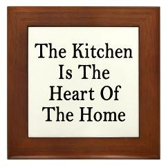view larger kitchen heart home framed tile the kitchen is the heart of ...