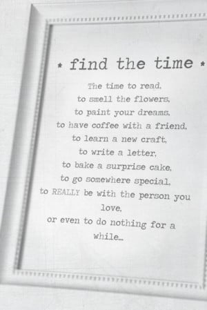 Find The Time - Quote