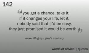 Meredith Grey-Words of wisdom