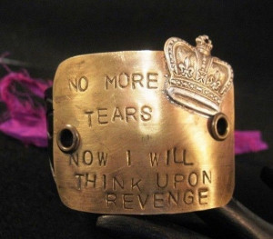 no more tears queen mary quote cuff bracelet