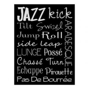 Jazz Dance Subway Art Poster