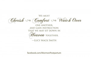 Quote Lucy Mack Smith Encouraging Love And Cherish One