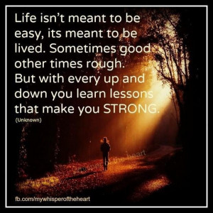 Life isnt meant to be easy picture quotes image sayings