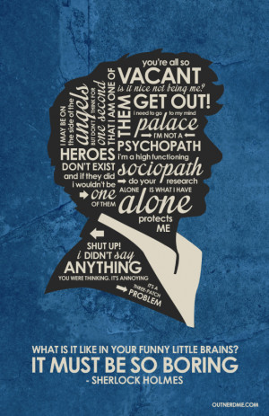BBC Sherlock Inspired Quote Poster by outnerdme