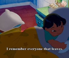 cartoon, disney, lilo and stitch, quote, text - inspiring picture on ...