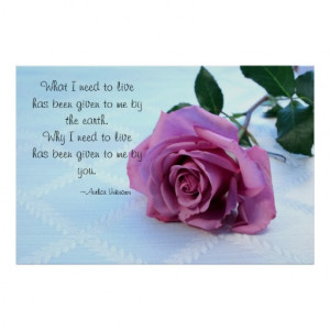 Dusty Pink Rose Love Quote Poster