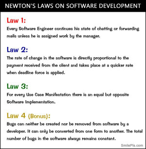 Newton's Laws On Software Development