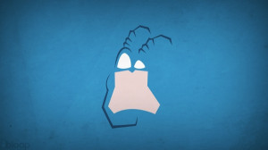 minimalistic superheroes the tick antenna blue background blo0p ...