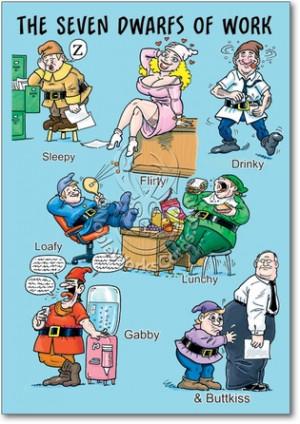 Work Dwarves Unique Naughty Funny Birthday Paper Card Nobleworks