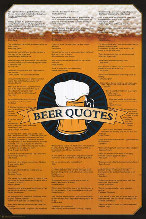 Beer Quotes Poster Beer Quotes Poster
