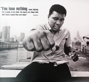 ... Canvas Prints › Muhammad Ali Fist with Quote 12