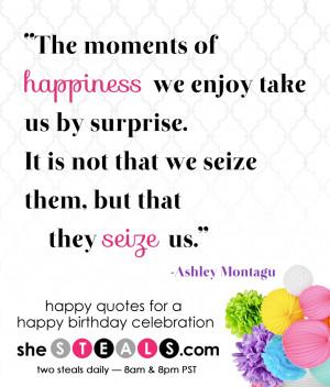 Happy Quotes for a Happy Birthday Celebration