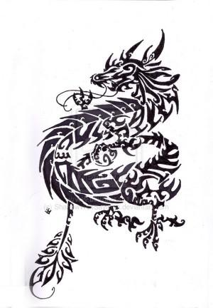 ... tattoo tribal tribal oriental dragon by tribal dragon tattoos are
