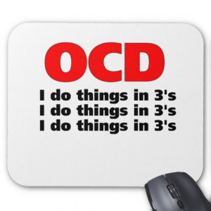 ocd funny quote mouse pad