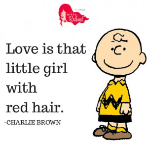 Charlie Brown Red Hair Quote