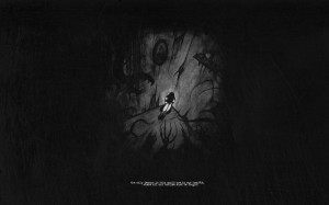 dark corner demons quotes lonely grayscale Wallpaper