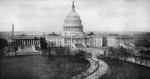 Black amp White U S Capitol Building