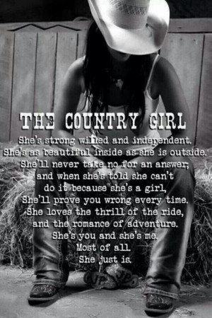 For my country girls.