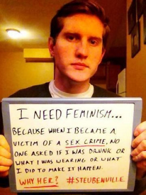 Be a male feminist. Prepare yourself to be held accountable .
