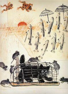 Inspiration: Yuri Vasnetsov (Russian, 1900-1973). Illustration of cat ...