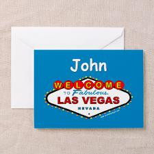 Las Vegas Happy Birthday John Card for