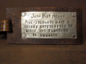 Leather Luggage Tag with Custom Quote