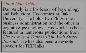 About Dan Ariely slide