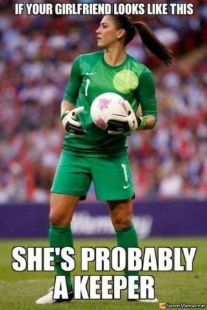 SportsMemes.net > Soccer Memes > Girl Goalie