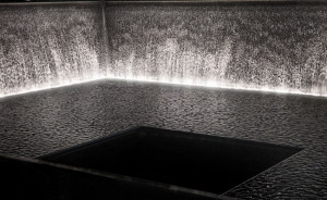 Eleven projectors surround the Hirshhorn facade, carefully positioned ...