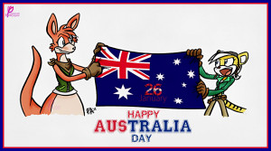 Australia Day Wishes Message Card 26 January Greetings Australia Flag ...