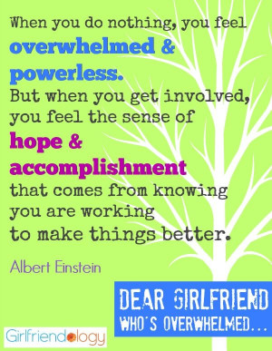 Feels Overwhelmed, Girlfriend Advice on feeling less stressed | Quote ...