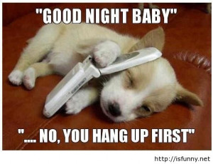 Funny good night love quote