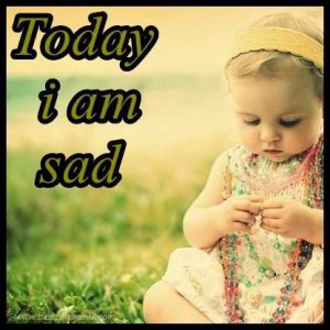 Today I Am Sad Cute Baby Girl Graphic