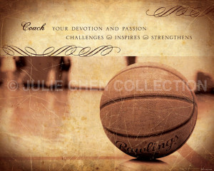 Basketball Coach Gift - Basketball Coach Keepsake - Basketball Photo