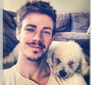 Grant Gustin Facial Hair