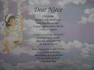 Niece Poem Personalized...